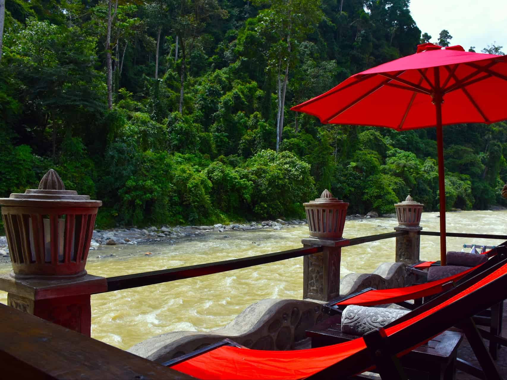 SUN TERRASSE AT ECOTRAVEL COTTAGES BUKIT LAWANG - SUMATRA ECOTRAVEL
