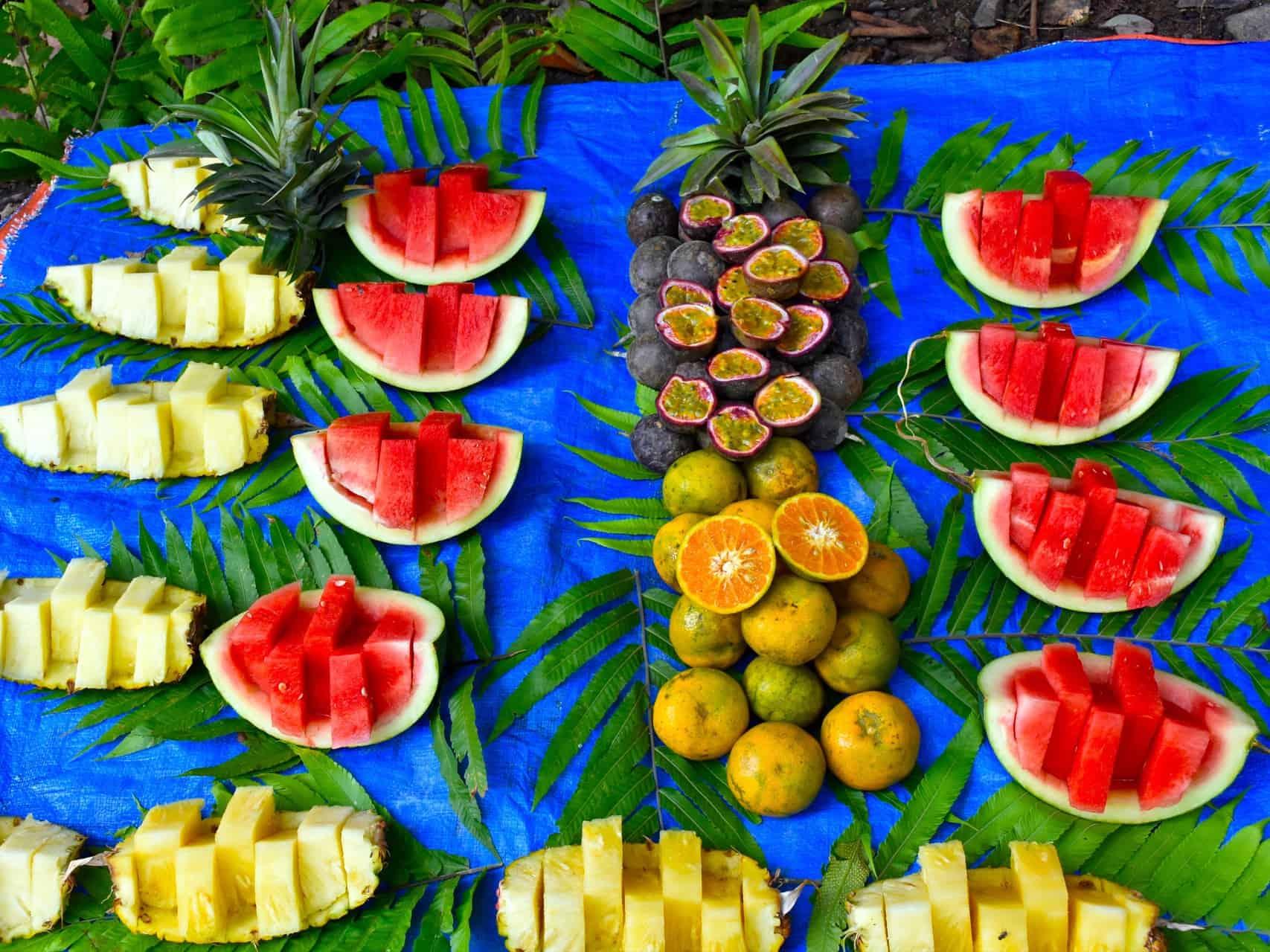 FRESH FRUITS - JUNGLE TREKKING - SUMATRA ECOTRAVEL