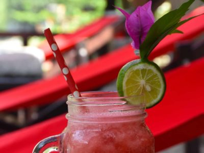 FRESH FRUIT JUICE AT ECOTRAVEL COTTAGES BUKIT LAWANG - SUMATRA ECOTRAVEL