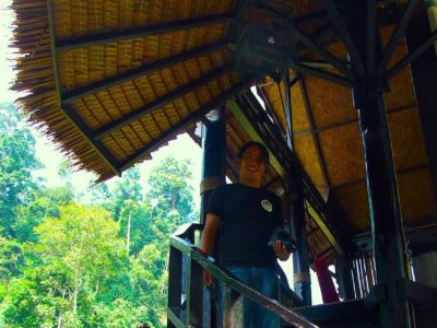 STAIRS UP TO JUNGLE VIEW SUITE AT ECOTRAVEL COTTAGES BUKIT LAWANG - SUMATRA ECOTRAVEL