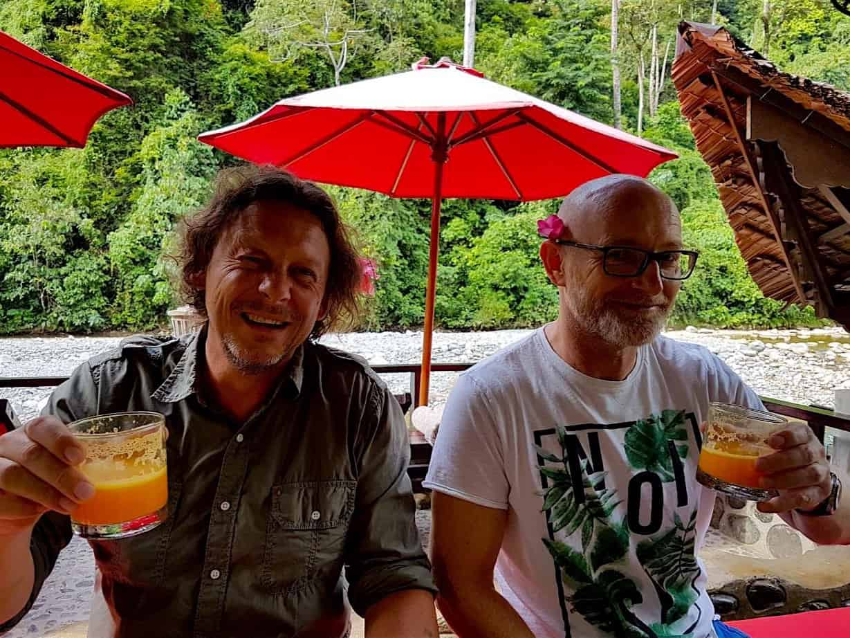 HAPPY HOUR AT ECOTRAVEL COTTAGES BUKIT LAWANG - SUMATRA ECOTRAVEL