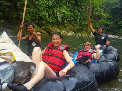 TUBE-RAFTING FUN - JUNGLE TREKKING - SUMATRA ECOTRAVEL - BUKIT LAWANG