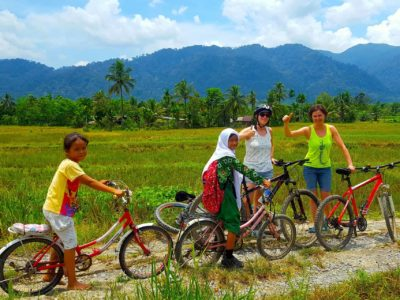 MOUNTAIN BIKE TOUR - LOCAL LIFE -SUMATRA ECOTRAVEL