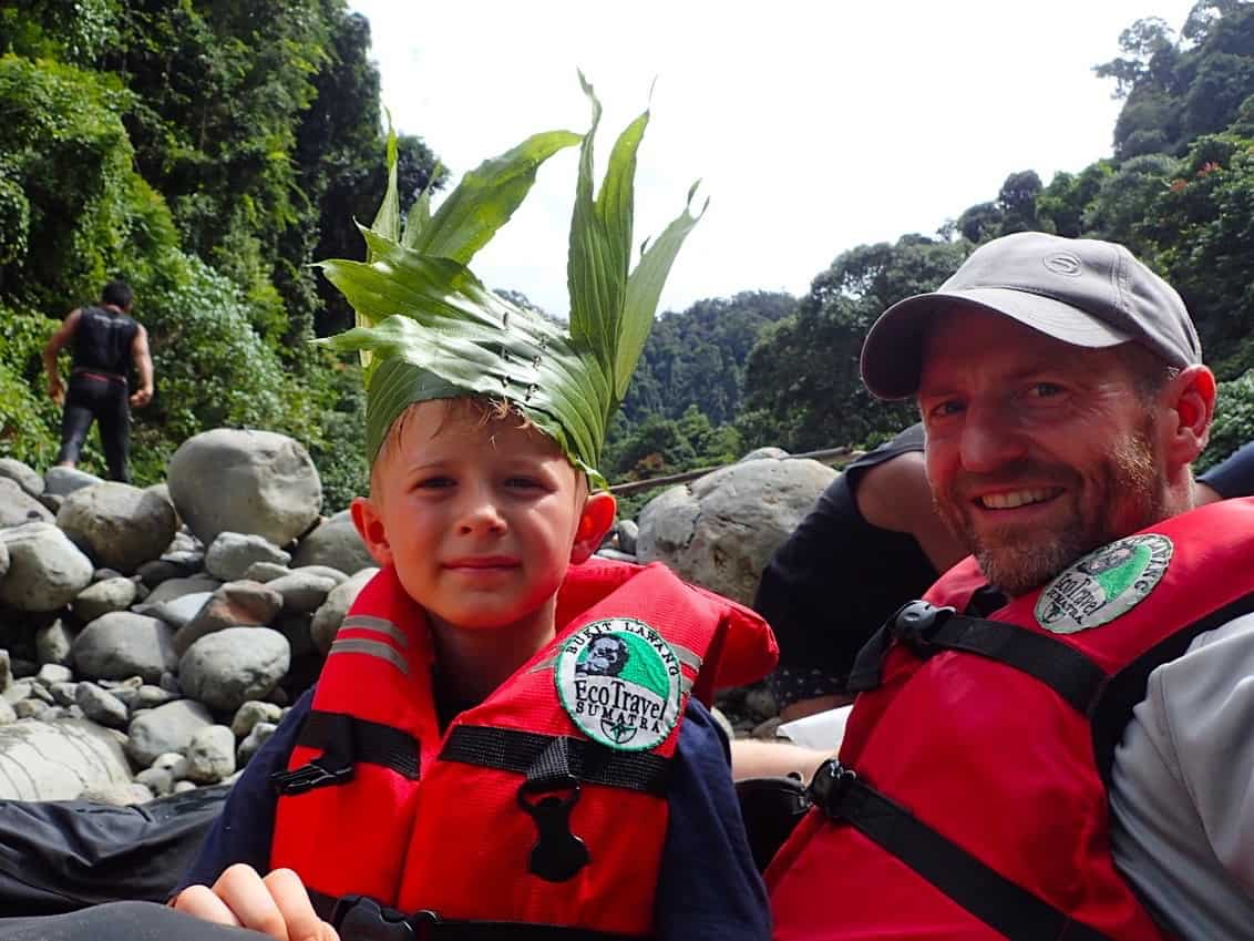 TUBE-RAFTING FUN AFTER JUNGLE TREKKING - 1-DAY TREK - SUMATRA ECOTRAVEL BUKIT LAWANG
