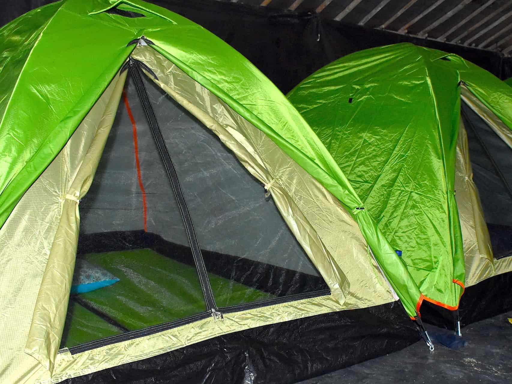 CAMPSITE AT AN OVERNIGHT JUNGLE TREK - 2-DAY TREK - 3-DAY TREK - SUMATRA ECOTRAVEL