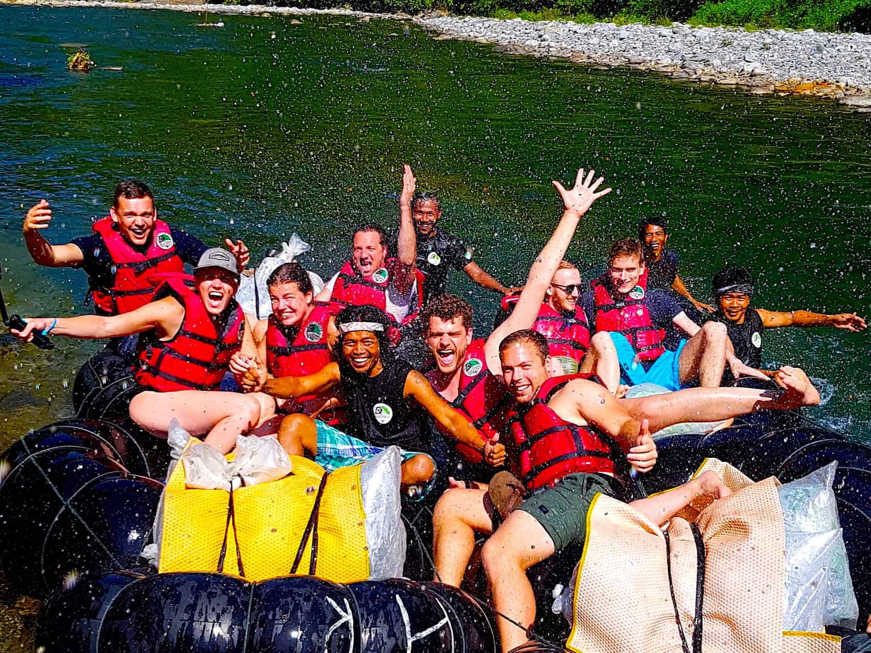 TUBE-RAFTING FUN - 3-DAY TREK - BUKIT LAWANG JUNGLE TREKKING BY SUMATRA ECOTRAVEL