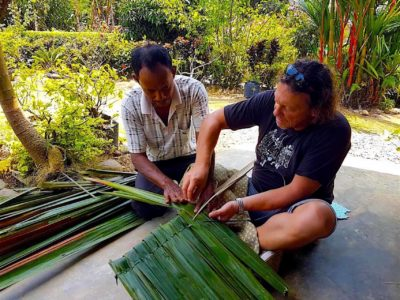 TRADITIONAL ROOF WEAVING - VILLAGE LIFE - SUMATRA ECOTRAVEL BUKIT LAWANG