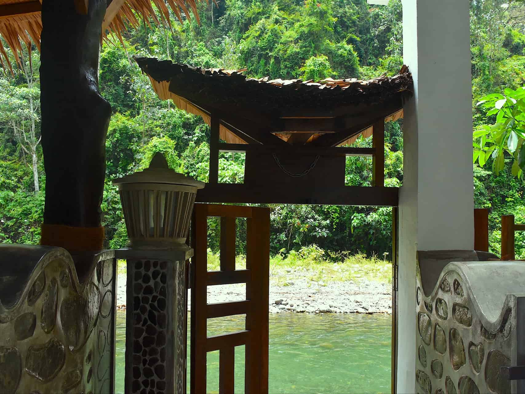 Gate door to the Bohorok River - Hangout@EcoTravel Bukit Lawang