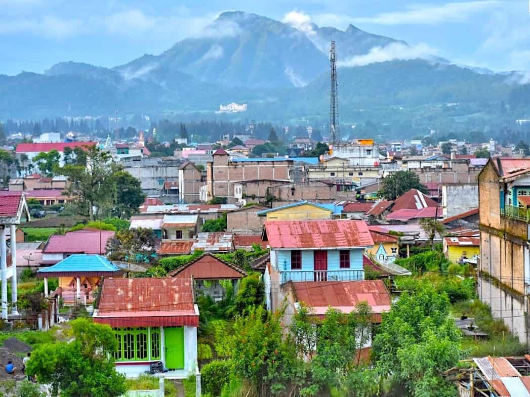 View from Nachelle Homestay - Berastagi - Sumatra Highlights by Sumatra EcoTravel